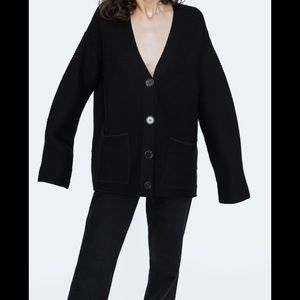 Zara Textured Weave Cardigan